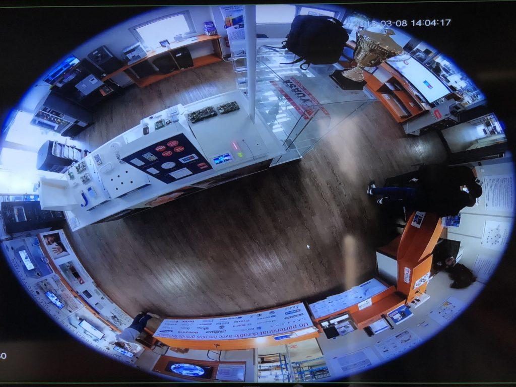 Images d'une caméra de vidéosurveillance